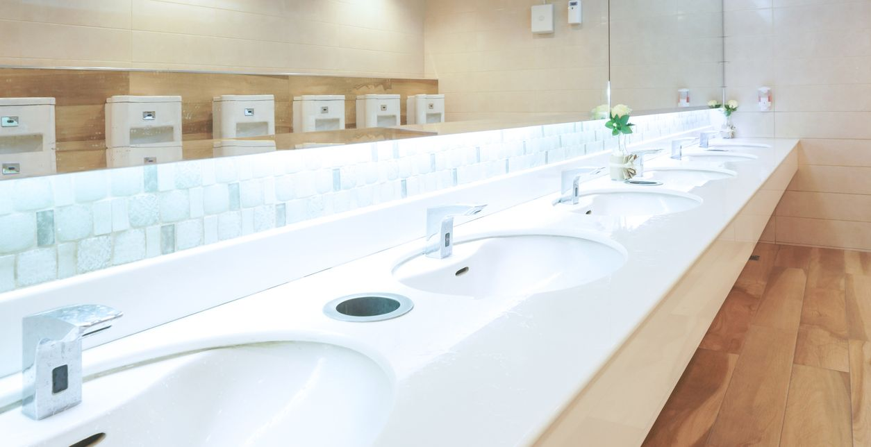 bathroom, business, public, commercial services, wooster cleaning